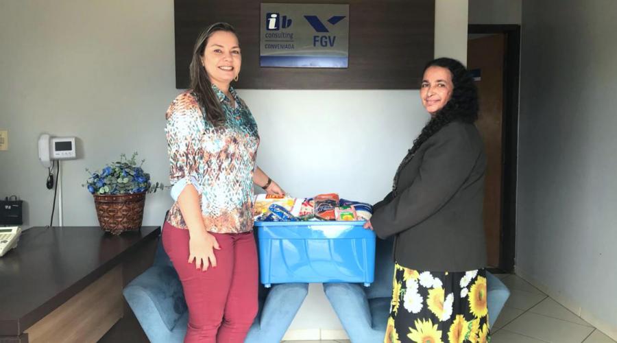 IB Consulting faz doação de alimentos para entidade filantrópica